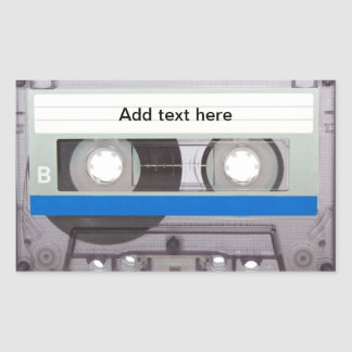 Retro Cassette Tape Rectangular Sticker