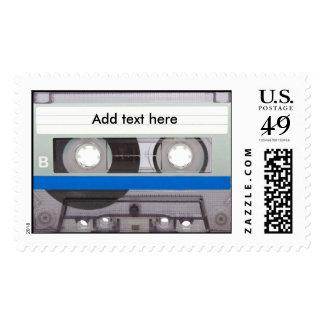 Retro Cassette Tape Stamp