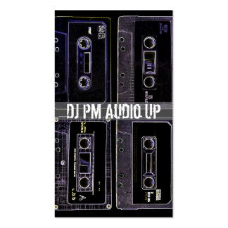 Retro Cassette Tape Throw Back DJ Record Business Card