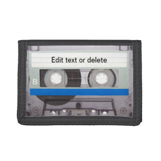 Retro Cassette Tape Tri-fold Wallets