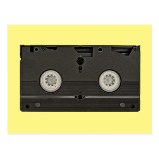 Retro Cassette VHS Tape Photo Postcard