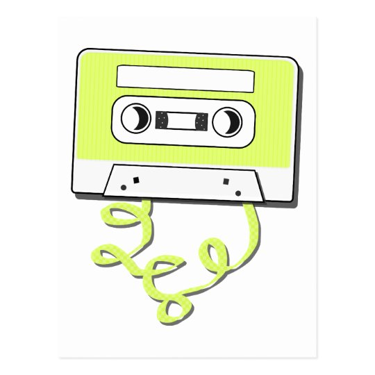 Retro Casssette Postcard