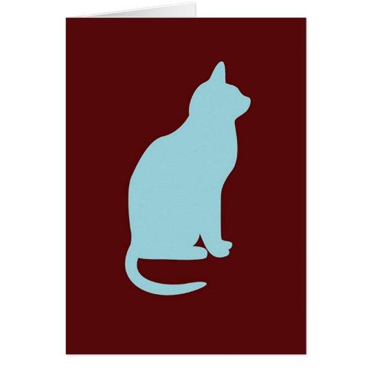 Retro Cat - Blank  Card