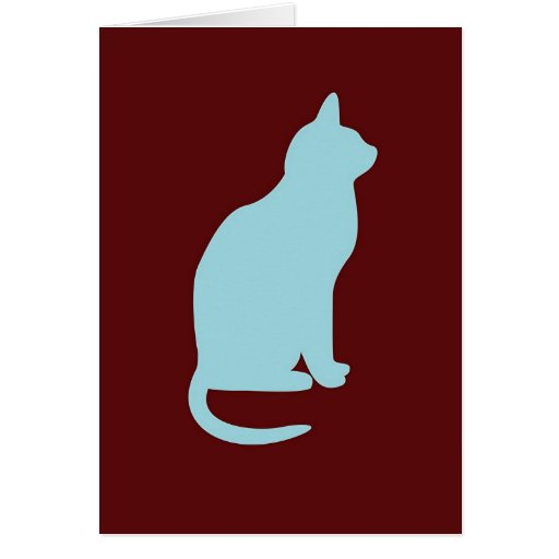 Retro Cat - Blank  Greeting Card