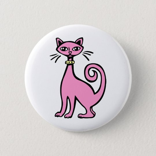 Retro Cat - Customized Button