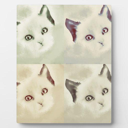 RETRO CAT DISPLAY PLAQUE