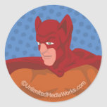 Retro Cat-Man Classic Round Sticker