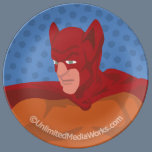 Retro Cat-Man Dinner Plate