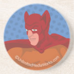 Retro Cat-Man Drink Coaster