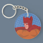 Retro Cat-Man Keychain