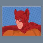 Retro Cat-Man Postcard