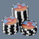 Retro Cat-Man Set Of Poker Chips