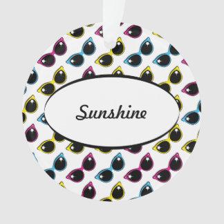 Retro Cat Sunglasses Pattern Ornament
