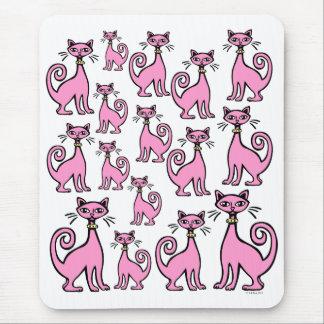 Retro Cats Mouse Pad