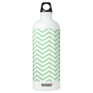 Retro Celadon Chevron; zig zag Water Bottle