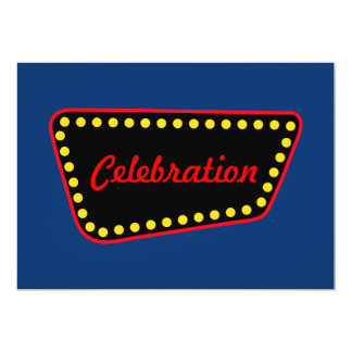 Retro Celebration Invitations