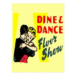 Retro cene y baile postales