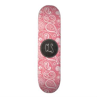 Retro Chalkboard; Blush Pink Paisley; Floral Skateboard