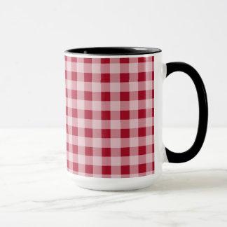 Retro Chalkboard; Carmine Red Gingham; Checkered Mug