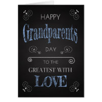 Retro Chalkboard for Grandparents Day with Swirls Card