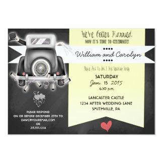Retro Chalkboard Post Wedding Party Invitation