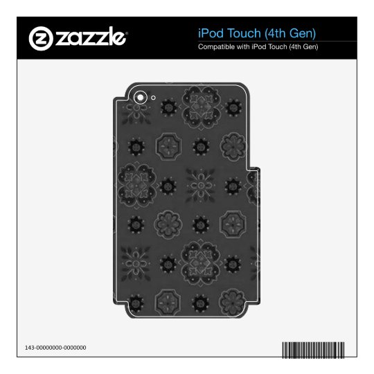 Retro Charcoal Black iPod Touch 4G Decals