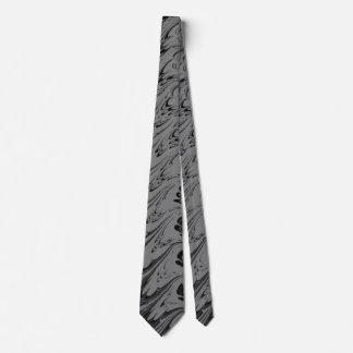 Retro Charcoal Gray and Black Tie