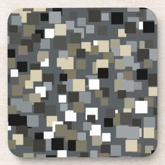 Retro Charcoal Squares Coasters