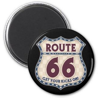 Retro Checker 66 2 Inch Round Magnet