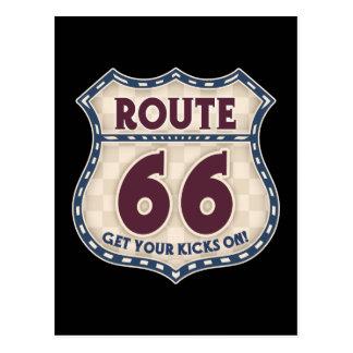 Retro Checker 66 Postcard