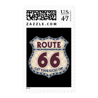 Retro Checker 66 Stamp