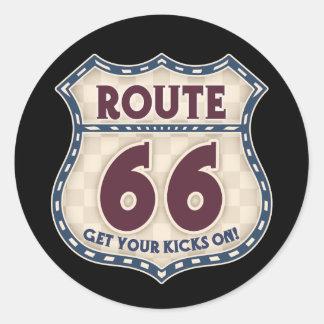 Retro Checker 66 Stickers