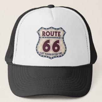 Retro Checker 66 Trucker Hat
