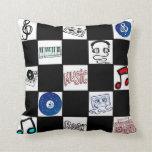 Retro Checkerboard Music Cassettes & More Pillows