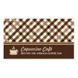 Retro Checkered Coffee Bar Business Card