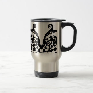 Retro Checkered & Swirled High Fashion Women 15 Oz Stainless Steel Travel Mug