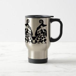 Retro Checkered & Swirled High Fashion Women Travel Mug