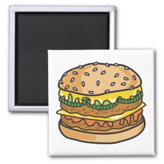 retro cheese hamburger fridge magnets