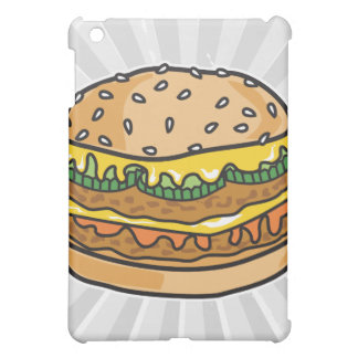 retro cheese hamburger iPad mini cases