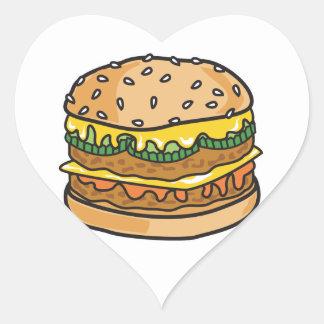 retro cheese hamburger sticker