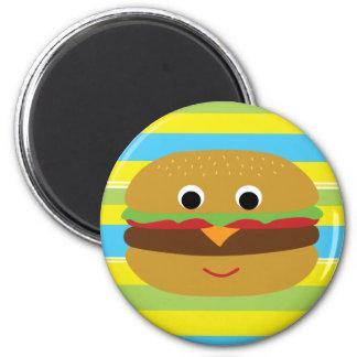 Retro Cheeseburger 2 Inch Round Magnet