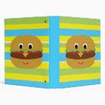 Retro Cheeseburger Binders