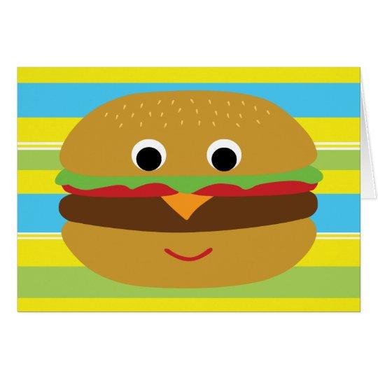 Retro Cheeseburger Card