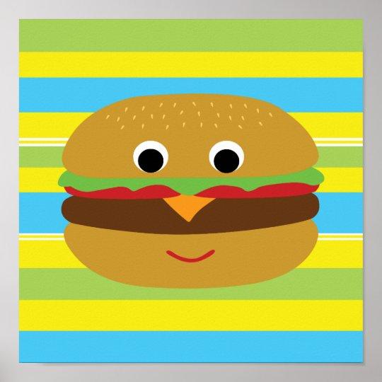 Retro Cheeseburger Poster