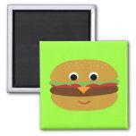 Retro Cheeseburger Refrigerator Magnet