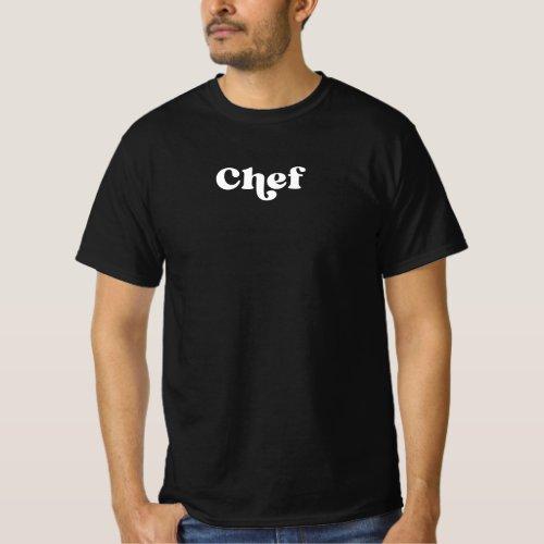 Retro Chef Black and White T_Shirt