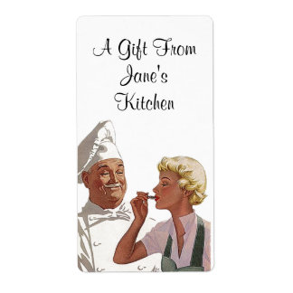 Retro Chef Labels Label Gifts from Kitchen Gifting