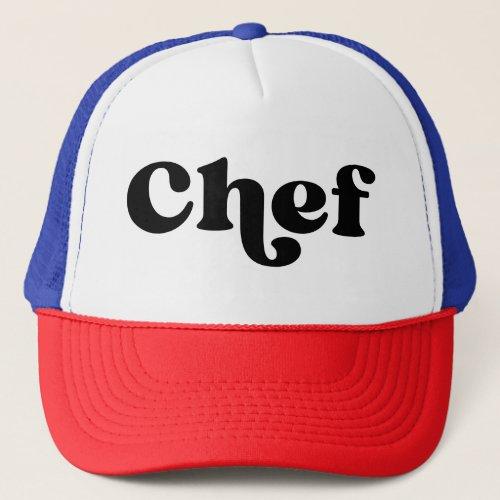 Retro Chef Trucker Hat