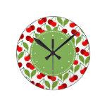 Retro Cherries Clocks