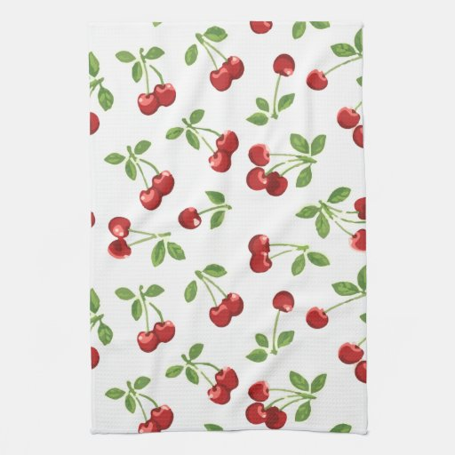 Retro Cherries Kitchen Towel